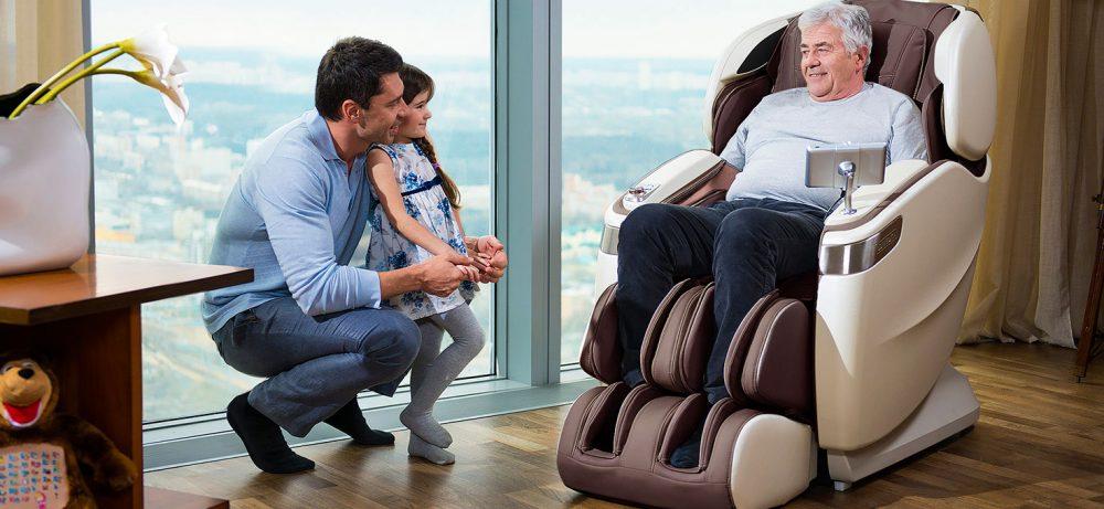 Массаж. Терапия стопы и икры в массажных креслах